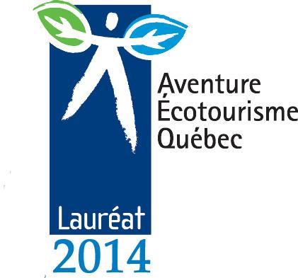 Laureat_2014 prix Excellence Aventure Ecotourisme Quebec